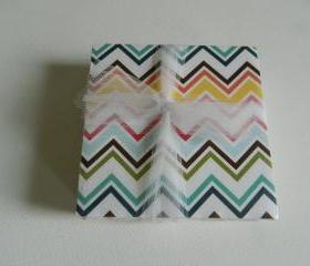 Multi-Colored Chevron Coasters