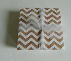 Wood Grain Chevron Coasters