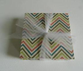 Sherbert Colored Chevron Coasters