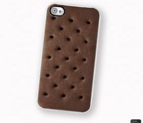 iPhone 4 4S Hard Case , Ice Cream Sandwich Dessert Cell Phone Case