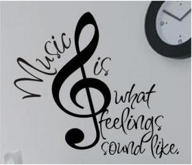Music is a feeling decal