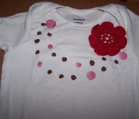 White Onesie with Applique