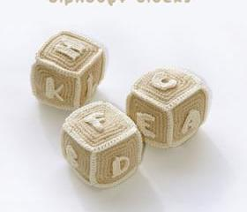 Alphabet Blocks (S to Z) Crochet PATTERN, SYMBOL DIAGRAM (pdf)