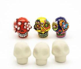 DIY Supplies Ceramic handmade Mini Skull Bead