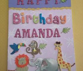 Personalized, custom child's birthday card