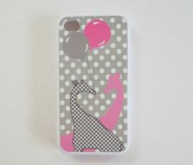 Decorate your iPhone 4 and iPhone 4S Case Giraffes in Love Original Artwork