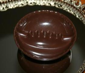 Melmac - Melamine Ashtray .. Chocolate Brown .. Willert Home Products