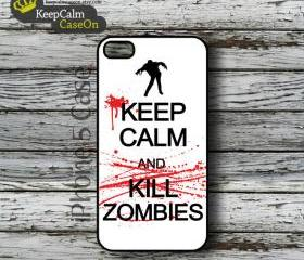 iPhone 5 Case, Keep Calm kill Zombies iPhone Case Hard Fitted iPhone 5 Case, iPhone 5 Hard Case
