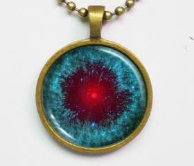 Astronomy Necklace - Helix Nebula, NGC 7293 - Cosmic Jewelry - Galaxy Series