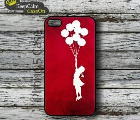 iPhone 5 Case, Banksy Balloon Girl iPhone Case Hard Fitted iPhone 5 Case, iPhone 5 Hard Case