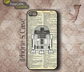 iPhone 5 Case, R2D2 On Dictionary iPhone Case Hard Fitted iPhone 5 Case, iPhone 5 Hard Case