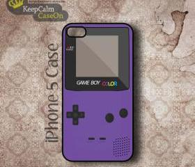 iPhone 5 Case, Purple Gameboy iPhone Case Hard Fitted iPhone 5 Case, iPhone 5 Hard Case