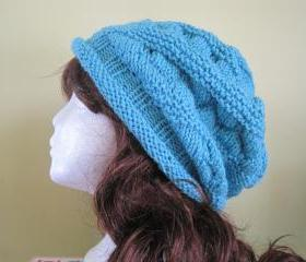 Knit Hat - Aqua (H17A)