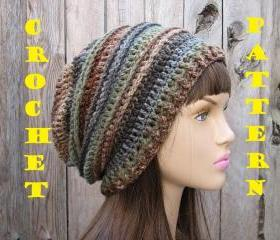 CROCHET PATTERN!!! Crochet Hat - Slouchy Hat, Crochet Pattern PDF,Easy, Great for Beginners, Pattern No. 30
