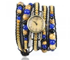 Handmade Chain and Beads Multicolor Wrap Watch for Woman