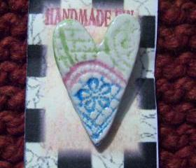 Ceramic Heart Pin #2