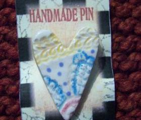 Ceramic Heart Pin 3