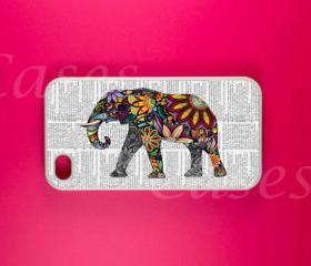 Iphone 4 Case - Elephant Art Iphone Case, Iphone 4s Case