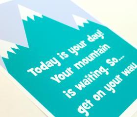 """Today is your day..."" Dr. Seuss quote 8""x10"" Nursery Art Print"
