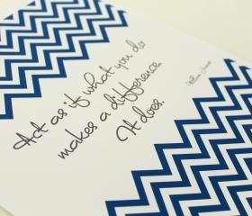 'It Matters' Chevron Inspirational Quote 8x10 Art Print