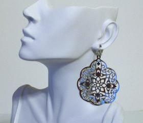 Sterling Silver and Large Silver Filigree Earrings