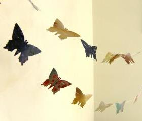 Colorful butterflies paper garlands