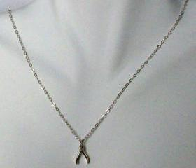 Simple and Dainty Sterling Silver Wishbone Necklace