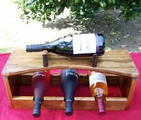 Now Taking Pre - Orders for Christmas Made to Order Handcrafted Wood Wine Bottle Holder Racks