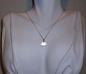 Delicate 14kt Gold Filled Tweet Tweet Bird Necklace