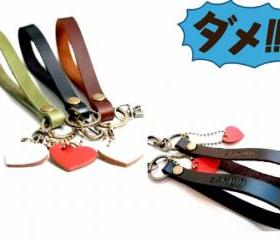  Leather Key Fob/Key Keeper Key Holder Key Ring 