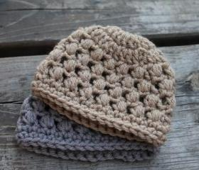 Puffy Preemie Crochet Baby Hat