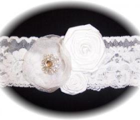 White Lace Wedding Garter 514