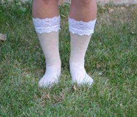 The ORIGINAL Lace Topped socks for Cowboy Boots or Combat Boots