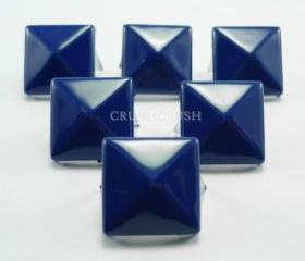 50x13mm NAVY Blue Color Pyramid Studs Punk Rock Biker Spikes spots S2813