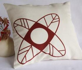 CUSHION handprinted - Minimalist design flower cover