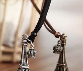 Eiffel Tower Pendant Necklaces