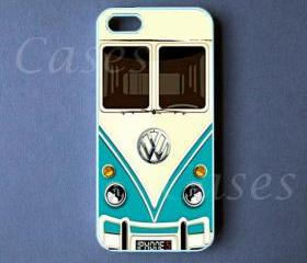 Iphone 5 Case - VW Mini Bus Teal Iphone 5 Cover