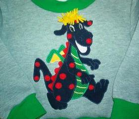 Toddler boy appliqued sweatshirt Size 2 to 3