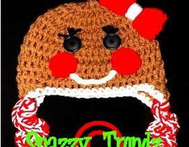 Adorable Crocheted Gingerbread Girl Hat