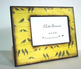4 x 6 Picture Frame - Birds On A Wire Picture Frame