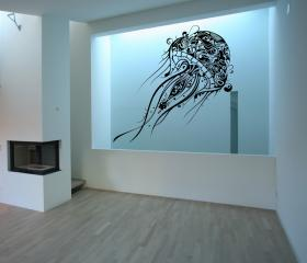 "Abstract Jellyfish Extra Large Vinyl Wall Decal 40""W x 71.5""H 22085"