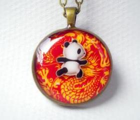 Dragon Panda Necklace - Panda Knows Kungfu - One of a Kind