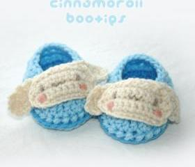 Cinnamoroll Baby Booties Crochet PATTERN, SYMBOL DIAGRAM (pdf)