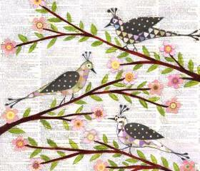 Art Print - Whimsical Birds