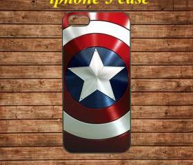 iphone 5 case,iphone 5 cover,iphone 5 hard case---Captain America Shield,in plastic
