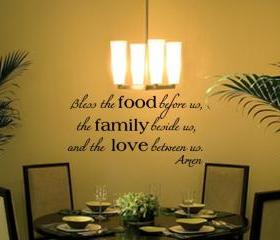 Bless the Food Family Love Vinyl Wall Decal 22195