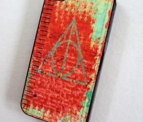 SALE iPhone 4 or iPhone 4S Plastic Case Deathly Hallows Ships from USA