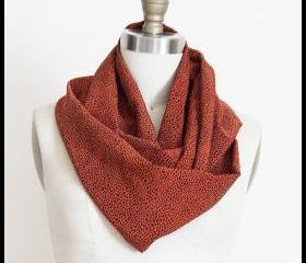 Pumpkin Spice Orange Leopard Spots Infinity Loop Circle Scarf
