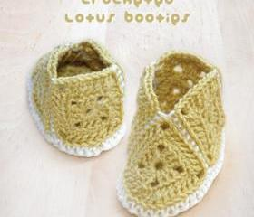 Vintage Mary Jane Baby Booties Crochet PATTERN, SYMBOL DIAGRAM (pdf)