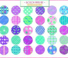 2 Inches Circles - Garland - Invitations - DIY Projects - Cardmaking - Personal and Commercial Use - 1380